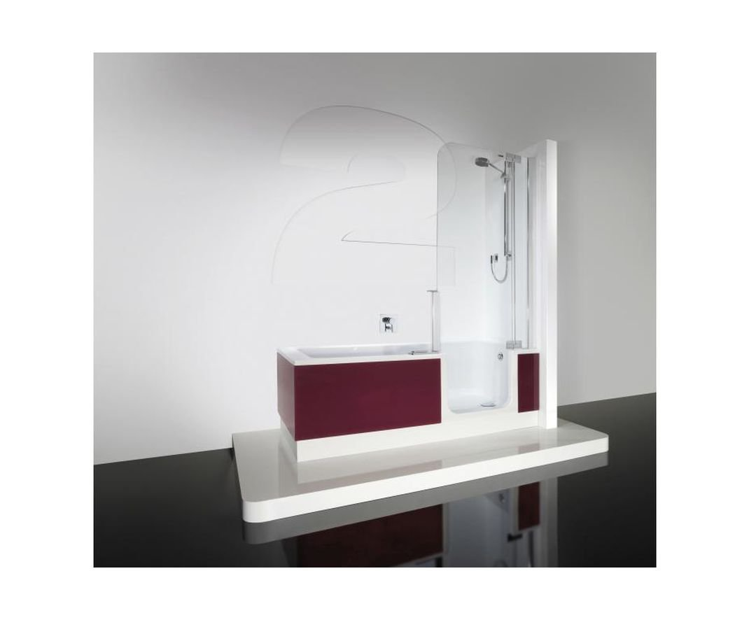Artweger Twin Line 2 Combi bañera ducha 170 cm Mampara Blanco con ...