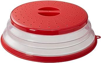 Ydh Wentylowana składana pokrywa do kuchenki mikrofalowej odporna na rozpryski pokrywka na talerz na żywność łatwy uchwyt ...
