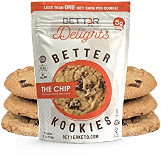 Healthy Keto Snacks Chocolate Chips Cookies by Bett3r Keto | Low Carb High Fat | Ketogenic, Primal, Paleo, Atkins