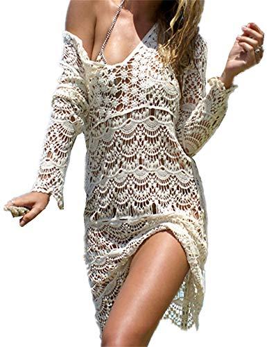 AiJump Túnica Floral Encaje Vestidos de Playa Beachwear Bikini Cover...