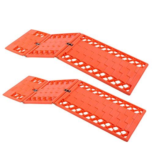 Gripmatte, Anfahrhilfe Set 2 Stück Orange klappbar 590 x 175 mm für Wohnmobil, Pkw, Geländewagen