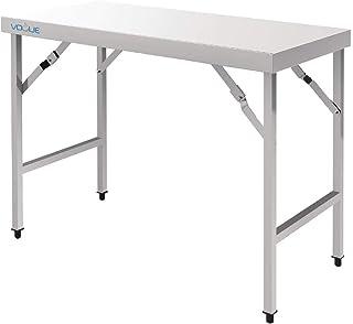 Vogue CB905 Table pliante en acier inoxydable 1200 mm