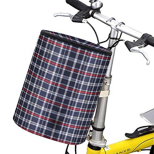 Uymaty Bolsa Plegable para de Bicicleta,Impermeable,para Ciclismo,Bolsas Delanteras para Llevar,Bolsas de Almacenamiento para Bicicletas con Gancho y Tapa,para Transporte de Mascotas Camping(Azul)