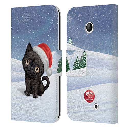 Head Case Designs Ufficiale Animal Club International Gatto 2 Animali Cover in Pelle a Portafoglio Compatibile con Nokia Lumia 630