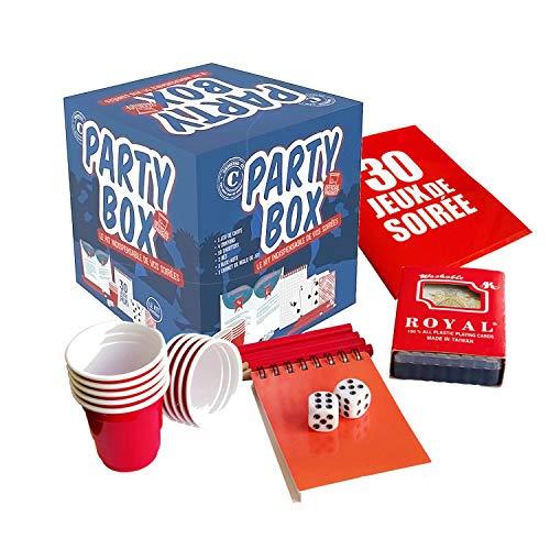Original Party Box | 30 Jeux de Soirée avec 30 Règles | Qualité Premium | 10 Shooters | 1 Jeu de Carte | 2 Dés | 1 Bloc-Note | 4 Crayons à Papier | Jeu à Boire | Apéro | Soirée | OriginalCup®