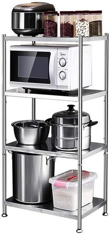 HUYYA Estar estantería metálica Cocina, 4 Niveles microondas ...