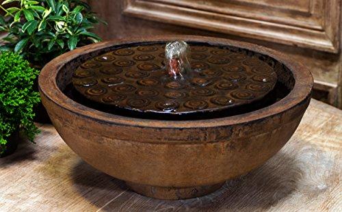 Campania International FT-244-BR Cirrus Garden Terrace Fountain, Brown Stone Finish