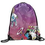 huatongxin Draw Cord Bag,Drawstring Gym Backpack,String Pull Rucksack,Travel Bolsa de Hombro,Kanye West Bear Bulk Backpack,Lightweight Cinch Pack,Sport Sackpack,Storage Bag