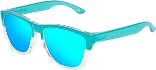 Hawkers Bicolor Tiffany Light Blue One,Gafas de Sol Unisex, Blanco/Azul