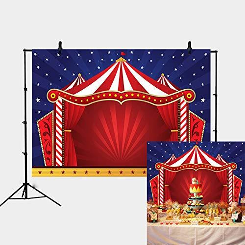 Daniu 7x5FT Fondo de Circo telón de Fondo Fiesta de Vinilo telón de Fondo para los niños decoración de cumpleaños Foto de Fondo Personalizado