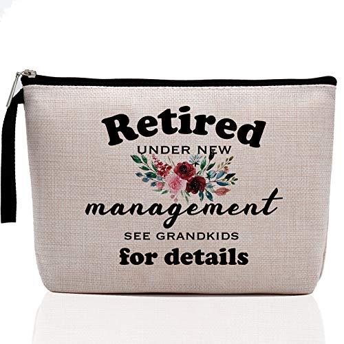 Humorous Retired Gifts, Retirement Gifts for Women Her- Funny Makeup Bag, Happy Retirement Gifts for Women Coworker, Retiring Teacher, Nurse, Grandma, Friend, Boss