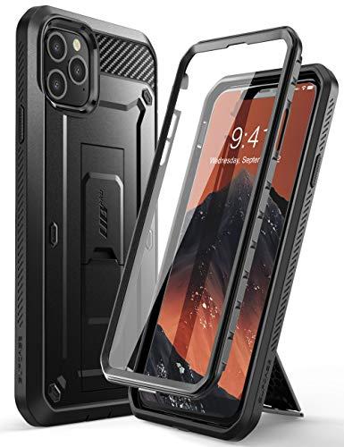 SUPCASE iPhone 11 Pro Hülle 360 Grad Handyhülle Outdoor Case Bumper Schutzhülle Full Cover [Unicorn Beetle Pro] mit Integriertem Displayschutz und Gürtelclip 5.8 Zoll 2019 Ausgabe (Schwarz)