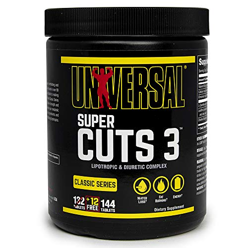 Universele Nutrition Super Cuts 3 Thermogen Antikatabol Fatburner vetverbranding 130 tabletten