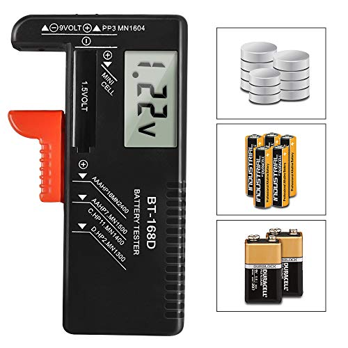 Batterietester,tonitott Batterie Testgerät BT-168D Universal Batterie Pruefgeraet Digitaler Akku Testgerät für AAA, AA, C, D, PP3,1,5 V, 9 V, N- und Knopfzellen