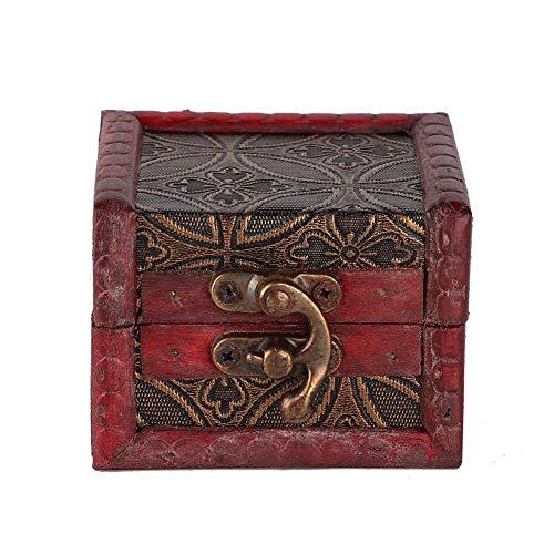 【Venta del día de la madre】Caja de almacenamiento de joyas Mini Retro...