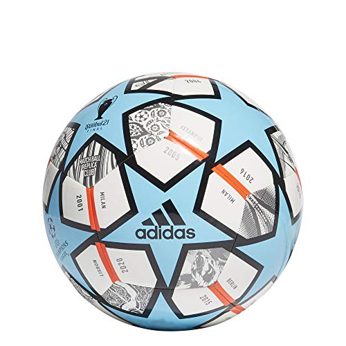 adidas Finale Club Soccer Ball White/Pantone/Pantone 4