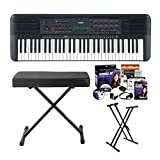 Yamaha PSRE273 61-Key Portable Keyboard Bundle with Knox Stand, Bench and Accessories...