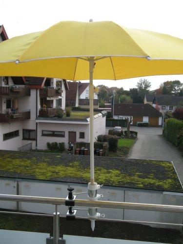 2 Support de parasol pour fixation Support de 25,5 à 55 mm Ø – Distance écran pour balcon pour intérieur ou extérieur avec 11 cm Distance Porte-parapluie – Holly breveté – pour fixation au ronde ou eckigen Éléments de env. 2 à 55/60 mm avec la 5 – réglable multi – Support rotatif à 360 ° avec capuchons en caoutchouc pour une fixation kratzfreien – Support pivotant à 360 ° – Distance Avec Prises de parasol pour de 25,5 jusqu'à Ø 55 mm avec enregistrement 13 cm 15,24 x Douille de