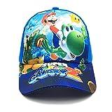 gorra Nuevo 2-9 años Anime Super Mario estampado niños niñas niños gorra de béisbol Cosplay plano Casual Hip Hop sombrero snapback sombrero para el sol al aire libre
