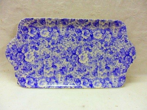Heron Cross Pottery Bleu Olde Angleterre Chintzy Sandwich Plate