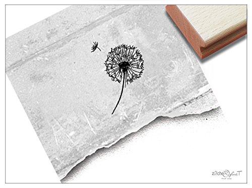 Stempel Motivstempel Zarte Pusteblume Löwenzahn - 3 Größen - Bildstempel Karten Basteln Scrapbook Bullet Stamp Tischdeko Deko Geschenk - zAcheR-fineT (mittel ca. 31 x 41 mm)