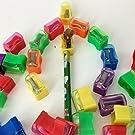 Adorox (Assorted (144 Sharpeners)) Bulk Miniature Plastic Pencil Sharpener Colors Assortment School Classroom