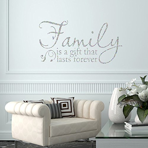 LARGE FAMILY QUOTE WALL  STICKER ART TRANSFER  DECAL