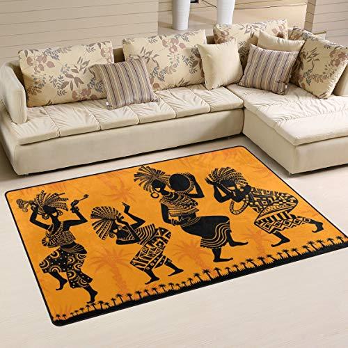 Naanle África Alfombra antideslizante para salón, comedor, dormitorio, cocina, 50 x 80 cm, alfombra para yoga