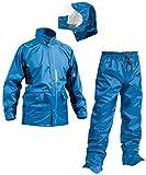 マック セブン ポイント 全2色 5サイズ レインスーツ 上下 アクア ブルー EL 防水 2レイヤー 止水テープ AS-5800