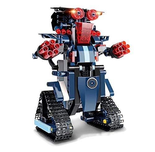 Baustein Roboter Spielzeug Kinder, STEM Roboterbausatz 349-tlg Blöcke Bauklötze Ferngesteuerter Roboter RC Wiederaufladbar Studenten Dekompression Pädagogisches Konstruktions Kreatives Robotic Set