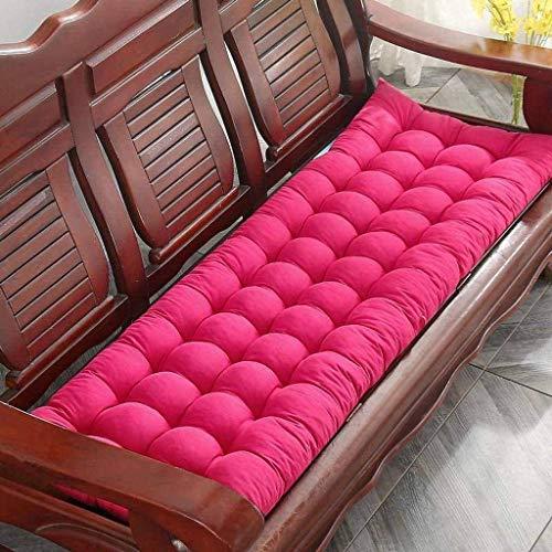 Sitzkissen Matratzenauflage Garden Patio Liegestuhl Sitz Gepolstertes Kissen Dicke Möbel Sofaauflage, Sonnenliege Kissen Sitzauflage (Rose Red, 160x48cm)