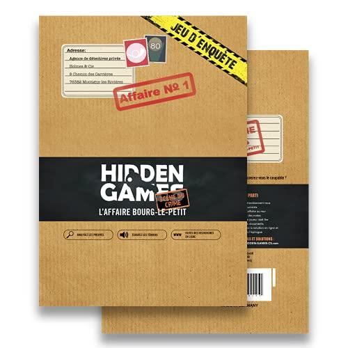 Hidden Games Scène du Crime - L'Affaire BOURG-Le-Petit - Version française - Escape Room