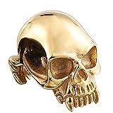 SAINTHERO Anillos de acero inoxidable góticos vintage para hombre, diseño de calavera, diablo, para motociclista, tamaño 7-13