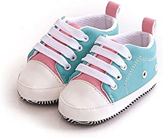 FemmeStopper Baby Shoes Unisex Baby Boy Baby Girl 9-13 Months (13cm) Soft Sole First Walkers Canvas Sneaker Prewalker 1 Year Baby Shoes