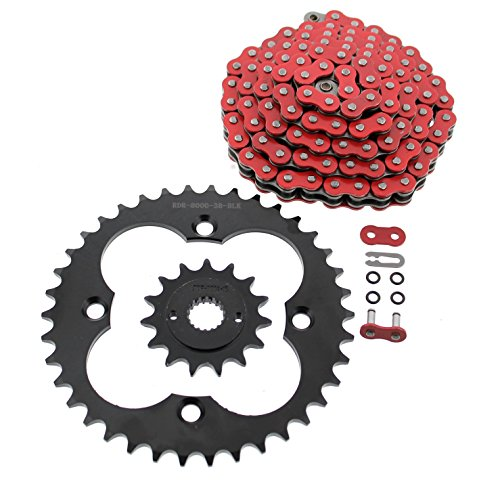 NICHE Drive Sprocket Chain Combo for Yamaha Banshee 350 Front 14 Rear 41 Tooth 520V-X X-Ring 104 Links
