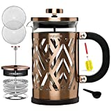 USER-FRIENDLY COFFEE MAKER: Fruitalite French Press Machine is incredibly easy to use. It is suitable for beginners & experienced coffee drinkers. Every part of the press can be disassembled for cleansing purposes so that the small coffee grounds can...