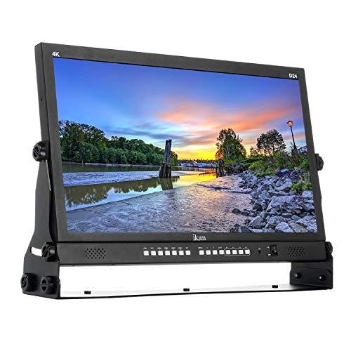 Ikan 23.8in Native Ultra HD 4K Monitor with Quad Split Display, Black (D24) (Renewed)