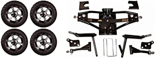"""3G Deluxe 6"""" Lift Kit Combo for Club Car DS Golf Carts '84-03 with 14"""" Colossus"""