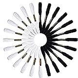 Hemore Crsf00512Noir et blanc 12écheveaux fils de fil de point de croix à broder 100% coton