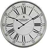 Para sala de estar / oficina / casa / decoración de cocina Reloj de pared reloj de pared creativo de los números romanos del reloj decorativo for Modern Home Office Club de reloj de pared silencioso (