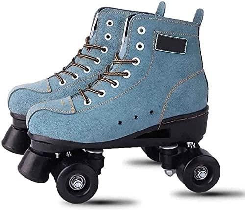 Botas de patinaje para hombre S para mujer, patines de cuatro ruedas para mujer, patines de hoja de estilo retro, 34 flashes ocio y entretenimiento-Noflash_35