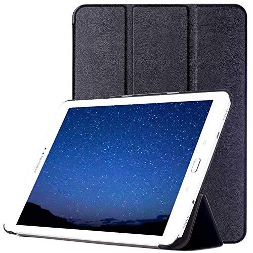 Dmtrab Para Samsung Galaxy Tab S2 9.7 / T815 Caso, Custer Texture Horizontal Flip Funda Protectora de Cuero con 3-Plegable (Negro) Cajas de tabletas (Color : Black)