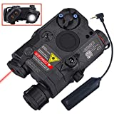 WOSPORT Gun Light Airsoft Tactical PEQ-15 IR Laser Black Battery Box LED White Flashlight+Red Laser Sight with Lenses Upgrade Version for AEG GBB CQB