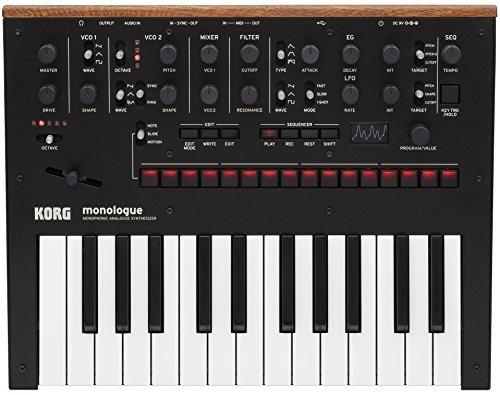 Korg monophonic Analog Synthesizer Monologue-BK Monologue Black