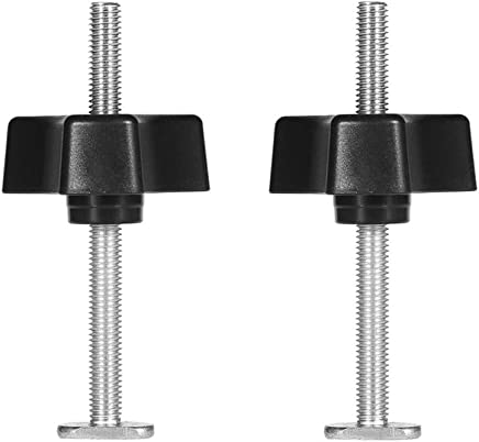T Screw and M8 Plastic Handle,Metal Quick Acting Hold Down Clamp Set for T-Slot T-Track DIY Woodworking Tool,Pack of 2 Set