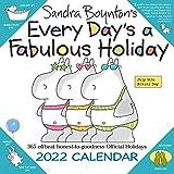 Sandra Boynton's Every Day's a Fabulous Holiday 2022 Wall Calendar