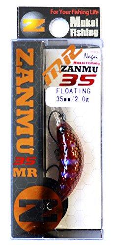 ムカイ(Mukai) クランクベイト ザンム35MR F つぶアン 35mm 2g アカマムシ 定番7 ルアー
