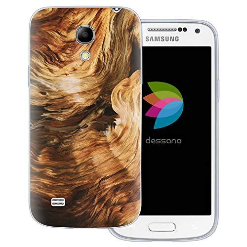 dessana - Cover per Samsung Galaxy S4 Mini, effetto legno