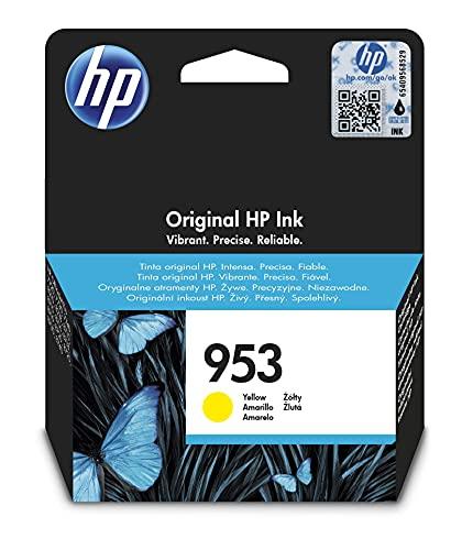 HP 953 F6U14AE, Amarillo, Cartucho de Tinta Original, compatible con impresoras de inyección de tinta HP OfficeJet Pro 7720, 7730, 7740, OfficeJet Pro Series 8000