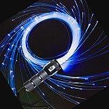 AZIMOM LED Fiber Optic Whip Dance Space Whip 6ft 360° Swivel 40Display Battery Power Mode Pixel Whip Rave Flow Super Bright Light Up Whip for Party Dancing EDM Show Music Festival
